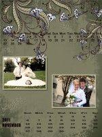 zaprojektowany kalendarz ślubny