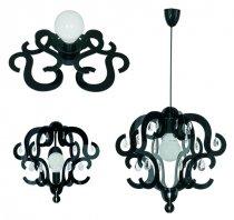 Lampy w stylu glamour, czarne